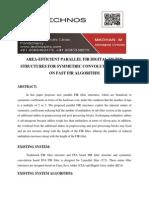 Area-efficient Parallel Fir Digital Filter Structures for Symmetric Convolutions Based on Fast Fir Algorithm
