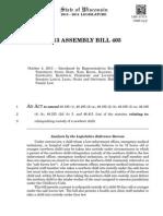 2013 ASSEMBLY BILL 405
