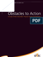 SPARC Obstacles to Action Overview Report 2003