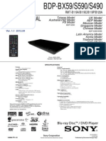 SONY BDP-S490SERVICE MANUAL
