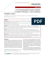 Implementation of Recommended Trauma System Criteria in South-eastern Norway a Cross Sectional Hospital Survey