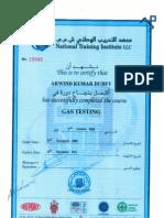 HSE-Gas Testing Certificate