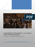 Cultural Globalization - How to Confront Afro-pessimism - A Case Study of the Africa for Norway Campaign - Final Version