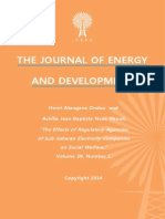 """The Effects of Regulatory Agencies of Sub-Saharan Electricity Companies on Social Welfare,""  by Henri Atangana Ondoa and Achille Jean Baptiste Nsoe Nkouli"