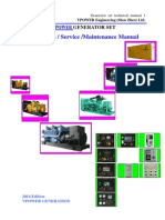VPOWER Genset Operations, Service and Maintenance Manual