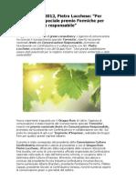 Gruppo Rem Lucchese, green consultancy premio speciale 'Formiche'