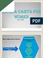 Magna Carta for Women Ppt