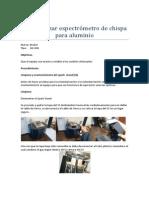 Estandarizar Espectrómetro de Chispa Para Aluminio