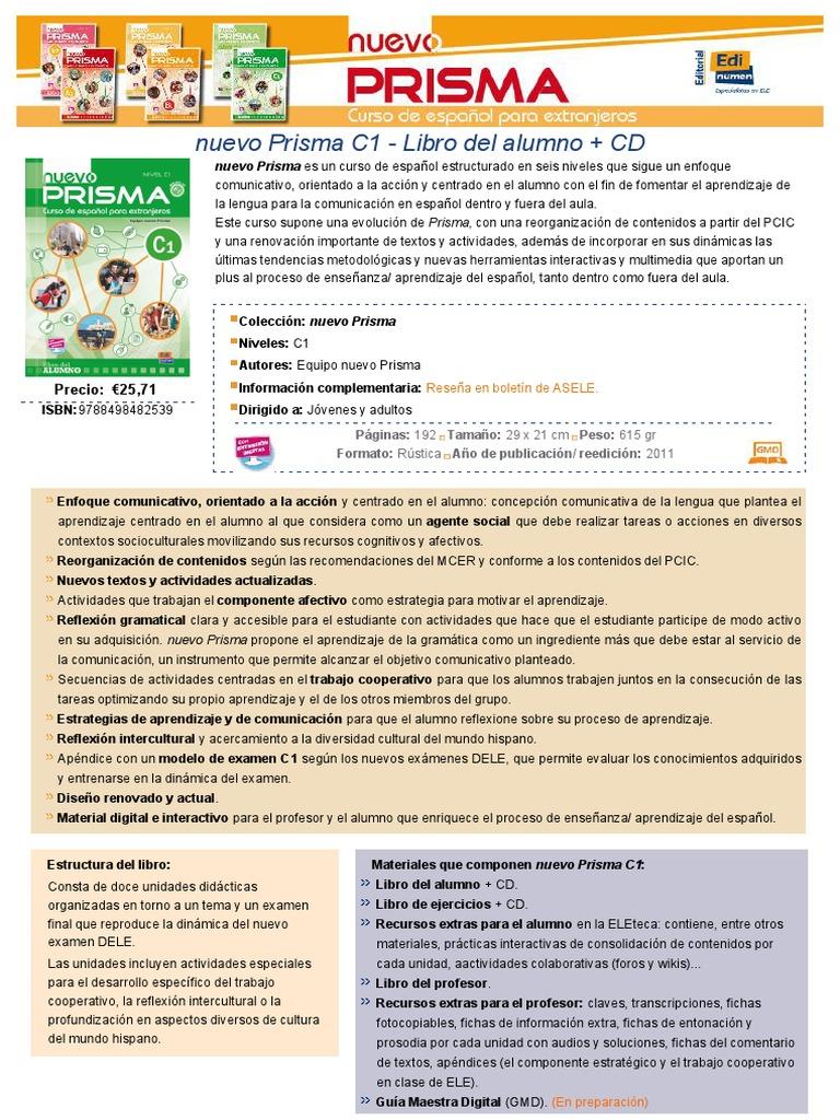 nuevo prisma c1 libro del alumno pdf