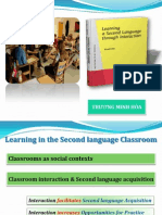 Learning in the Second Language Classroom