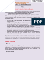 HISTORIA DEL SERVIDOR PUBLICO