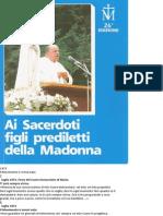 Ai Sacerdoti Figli Prediletti Della Madonna - Don Stefano Gobbi