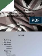 Die Beziehungen Zwischen Den Politischen Institutionen Im Britischen