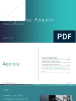 Cisco CCW Change Order Adoption Training for Partners and Distributors