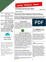 January 2015 Newsletter Spanish