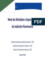 Nivel de Atividade e Expectativas Da Industria Fluminense 2014