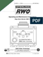 Bilge Alarm Monitor OMD 11