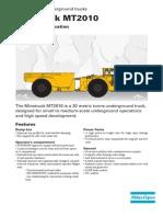 Especificaciones Tecnicas Dumper Mt2010
