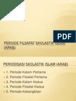 Periode Filsafat Skolastik Islam (Arab)