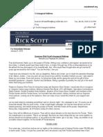 Florida Gov Rick Scott 2015 Inaugural address