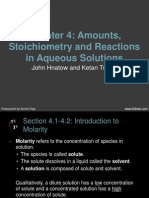 ch-04 amounts stoichiometry and reactions in aqueous solutions
