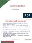 Elektromanyetik Dalga Teorisi - Özet Ders Notları