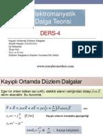 Elektromanyetik Dalga Teorisi - Özet Ders Notları 3