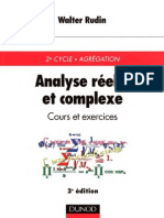 Analyse Réelle Et Complexe, Cours Et Exercices - Walter Rudin