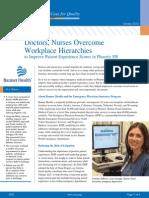 Doctors Nurses Overcome Workplace Hierarchies