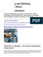 Testing a Theory - Stages of Smoking Cessation