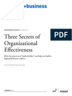 Three Secrets of Organizational Effectiveness