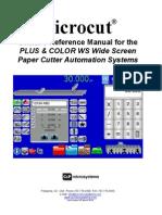Microcut ColorWS Manual