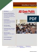 AksharBharati Newsletter