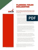 Flanders Fields Declaration