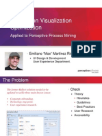 Information Visualization Optimization applied to Perceptive Process Mining