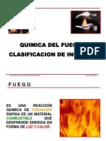 Quimica Del Fuego y Clasificacion de Incendios
