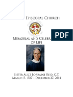 Sister Alice Reid Booklet