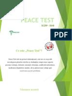 Peace Test - Prezentare Finala