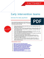 Early Intervention Teams Services for Early Psychosis Factsheet