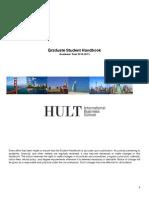 Hult Graduate Student Handbook 2014-15