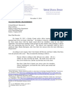 Grassley to Fairfax Police Chief