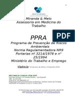 PPRA 2014 Exemplo Segmento de Mecanica