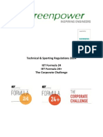 Greenpower 2014 Regulations