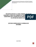 estudio hidrologico e hidraulico río cabezones Nuevo León.docx