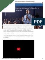 Barack Obama Net Neutrality Letter Nov 2014