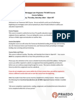 TN Mortgage Law Syllabus T, TH, Sat Renewal 2015