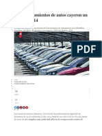 Los Patentamientos de Autos Cayeron Un 28% en 2014