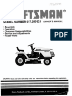 Craftsman 917.257621 Riding Lawn Mower Manual