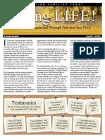 Living Life Newsletter Fall 2014