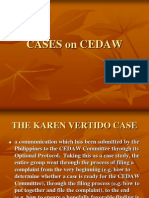 Cases on Cedaw